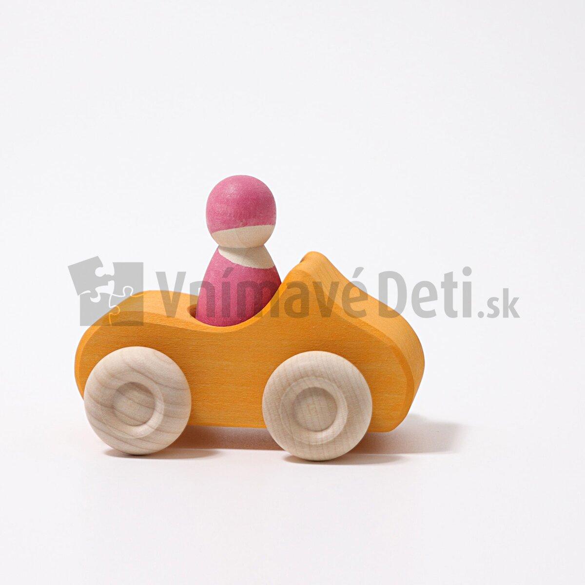 68b88a1e1 Žlté drevené autíčko, hračky Grimm´s