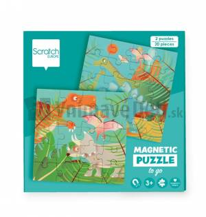 Magnetické puzzle - Dinosaury